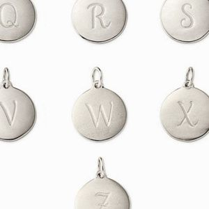 "Stella & Dot Sterling Silver ""W"" Initial Charm"